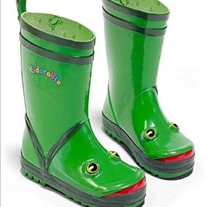 Kidorable Boys Green Frog Rain Boots Many Sizes